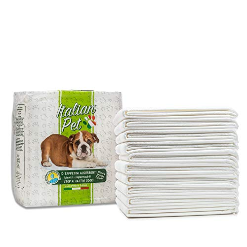Italian Pet - Tappetini Super Assorbenti per Cani Taglia Piccola 60x90cm (10 Pezzi) Traverse Assorbenti per Addestramento di Cani Gatti e Animali Domestici