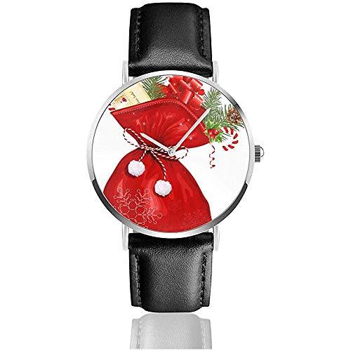 Relojes de Pulsera, Saco de Navidad con Regalos Reloj Reloj de Cuero...