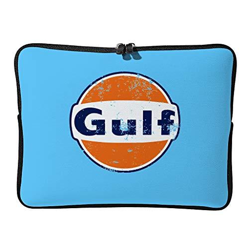 Normal Gulf Racing Laptoptaschen Erstklassig Erweiterbar - Orange Blau Laptoptasche Geeignet für Outdoor White 17 Zoll