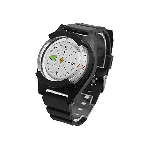 Nobrand Tactical Muñeca brújula Reloj de la Pulsera de Supervivencia al Aire Libre Reloj con Gear Brújula montañera GPS Negro