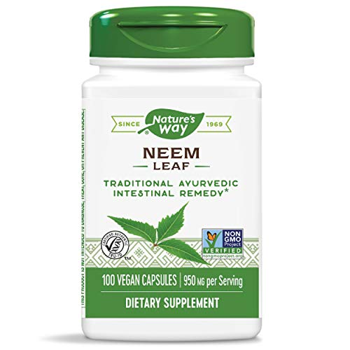 Nature's Way Premium Herbal Neem Leaf, 950 mg per serving, 100 Capsules