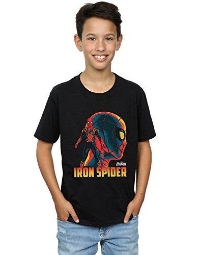 Avengers Niños Infinity War Iron Spider Character Camiseta Negro 7-8 Years