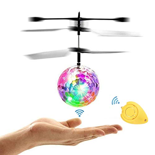 Amazingbuy - RC Flying Hover Ball, Helicopter Ball with Rainbow Shinning LED Lights for Kids Age 12 Older, Flying Toy for Boys and Girls