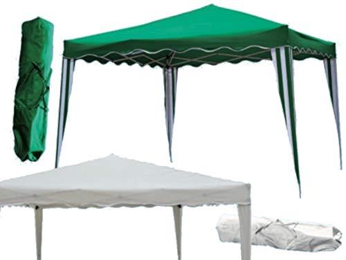 F-U Gazebo richiudibile Pieghevole Fisarmonica mt 3x2 3x3 Bianco Verde Sacca Mercato (2x3 mt, Bianco)