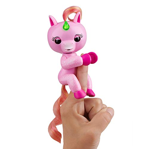 WowWee Fingerlings Light Up Glitter Unicorn, Jojo Interactive Collectible Baby Pet, Glitter pink 3848