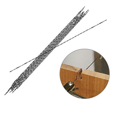 12 Stück Dekupiersägeblätter, Feinschnitt Sägeblätter mit Spiralverzahnung für Holz Metallplastikschneidensägen für die meisten Major Saw Brands(4#)