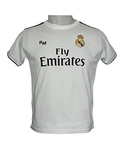 Real Madrid FC Camiseta Infantil Réplica Oficial Primera Equipación 2018/2019 (14 Años)