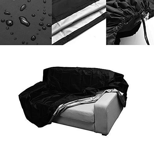 Funda para banco de jardín ShangSky, a prueba de polvo, con cordón, impermeable, transpirable, al aire libre, para asiento de banco de patio y muebles de interior