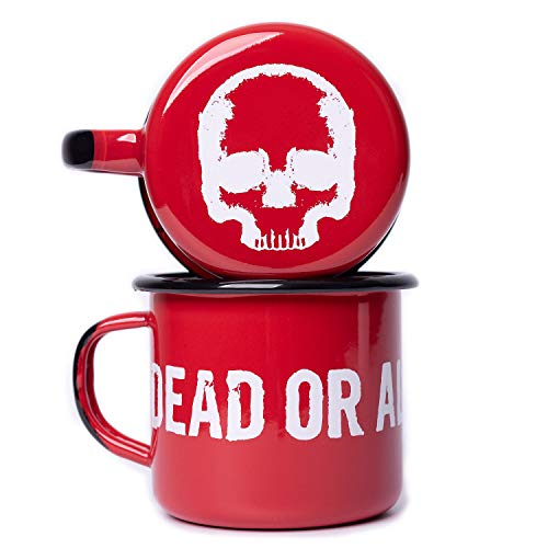 DEAD OR ALIVE Emaille Tasse 350 ml