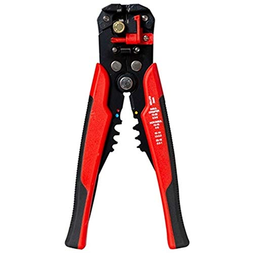 U/D Pimbuster Handwerkzeuge Automatischer Draht Abisolierzange Quetschen Druckkabelschneider Multi Stripping AWG24-10 0.2-6mm2 Crimpen 0.5-6mm2 (Color : D1 Red)
