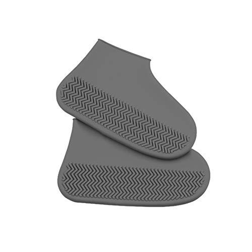 Leezo Fundas reutilizables impermeables para zapatos, antideslizantes, resistentes al agua, de goma de silicona, para niños, hombres, mujeres