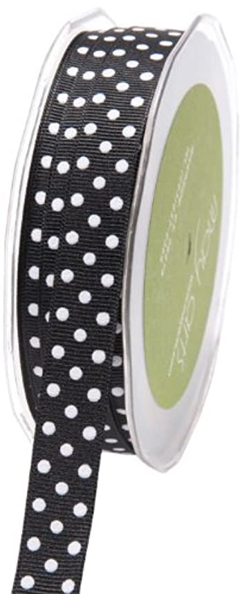 May Arts 5/8-Inch Wide Ribbon, Black Grosgrain Polka Dot cky91720372