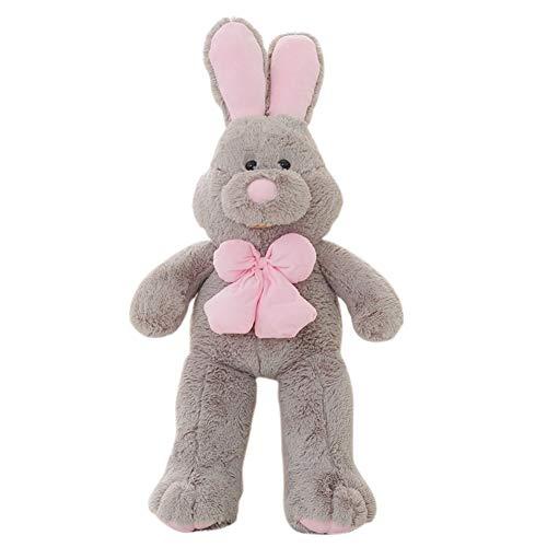 Henreal Plüschtier, Plüsch Hase Spielzeug, 100CM Kaninchen Puppe, Riesen Plüsch Kaninchen für Erwachsene und Kinder Geschenke zum Valentinstag, Weihnachten, Geburtstag, Jubiläum