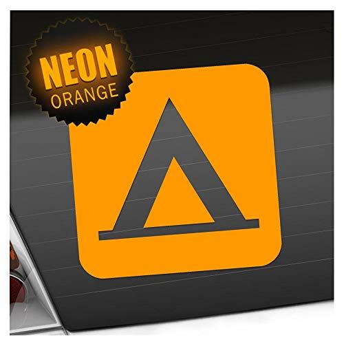 Kiwistar Zelten Camping Piktogramme Aufkleber Sticker 25 Farben Neon Matt