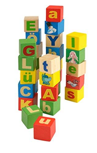 Beluga Jouets 61010 Tabaluga Cubes en Bois Lettres