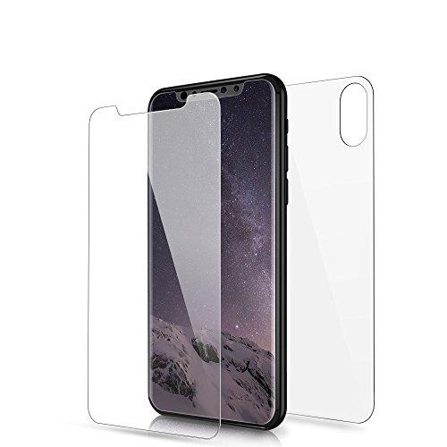 Phone Star Panzerglas Folie passend für iPhone XS, iPhone X [Front & Back PANZERGLASFOLIE] Glasfolie Vorne Hinten 9H Displayschutz