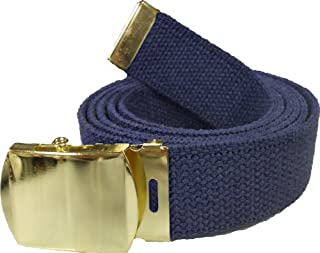 Army Web Belt 100% Cotton Canvas Military Color Belts 54
