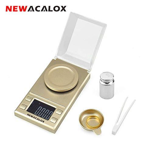 Milligram Digital de alta precisión, báscula de bolsillo, sensibilidad portátil, recargable, joyería dorada y gemas de escala