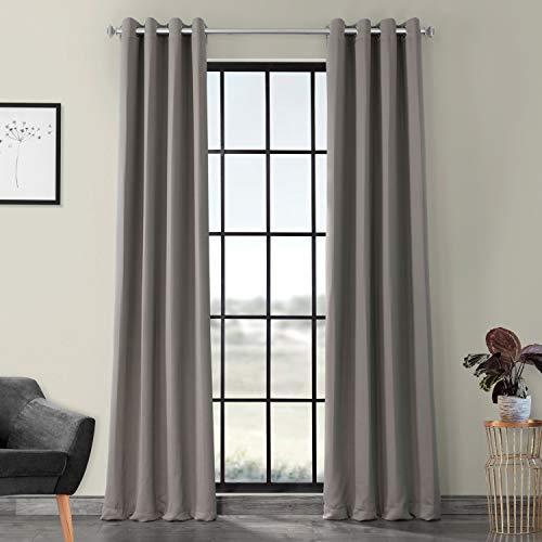 HPD Half Price Drapes BOCH-174402-120-GR Grommet Blackout Room Darkening Curtain (1 Panel), 50 X 120, Neutral Grey