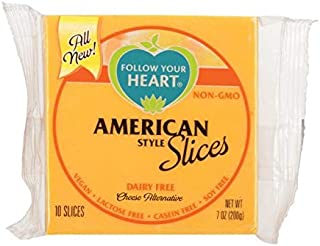 Follow Your Heart, Vegan American Cheese Slices 7oz ( 3 Pack)