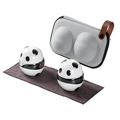 ZQJKL Encantador Panda Chino Juego De Té De Porcelana Juego De Té Kungfu Todo En Uno Servicio De Té Portátil con 2 Tazas De Té Tetera De Viaje Frasco Paño De Té Bolsa De Té