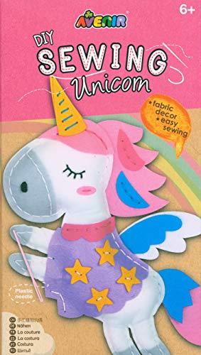 Avenir 01386 DIY Nähset, Sewing Unicorn, Bastelset für Kinder, Einhorn Kreativ-Set, ab 6 Jahren