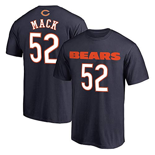 NFL Youth 8-20 Team Color Polyester Performance Mainliner Player Name and Number Jersey T-Shirt (Medium 10/12, Khalil Mack Chicago Bears Navy)