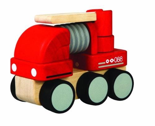 PlanToys - PT6320 - Jouet en bois - Véhicule - Camion de Pompiers