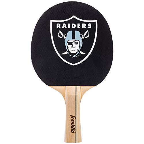 Franklin Sports Oakland Raiders Table Tennis Paddle - NFL Team Table Tennis Paddles - Official Team Logos and Colors - Fun NFL Game Room Accessories