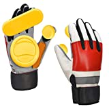 IMPORX Longboard Slide Gloves Downhill Longboarding Skate Gloves with 2 Slider Puck (Red-White)