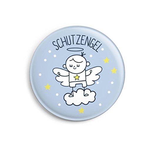 dabelino | Schutzengel-Button (Ø32mm) für Kinder/ Jungen (Geschenk zur Kommunion, Konfirmation, Firmung, Einschulung)