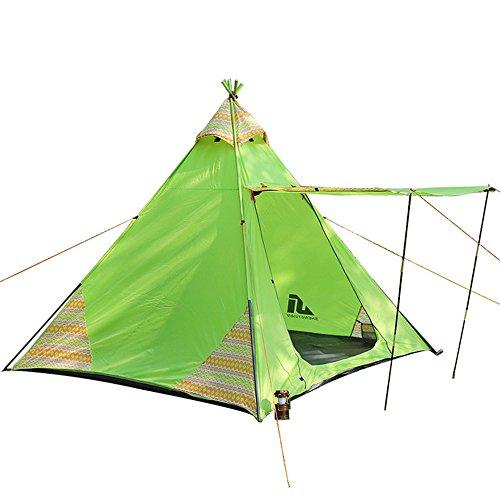 CCMMUU Kuppelzelte Robustes Zelt Doppel Regendicht Rucksack Zelt Muss 3-4 Personen Ultraleichte Wasserdichte Wandern Camping Trip, Sonnenschirm Net Faltzelt (Farbe : Grün, größe : 215 * 215 * 200cm)