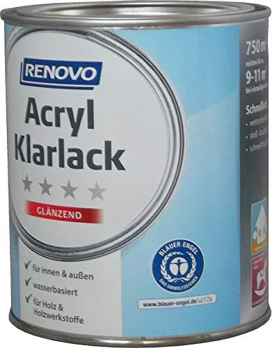 Renovo, Acryl Klarlack Hochglänzend 375 ml, Innen & Außen, Profilholzlack