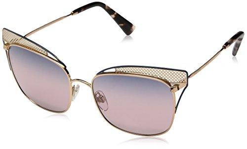 Valentino 0VA2017 3031E6 55 Gafas de sol, Azul (Rose Gold Blue/Trisgradientblueepinkmirror), Mujer
