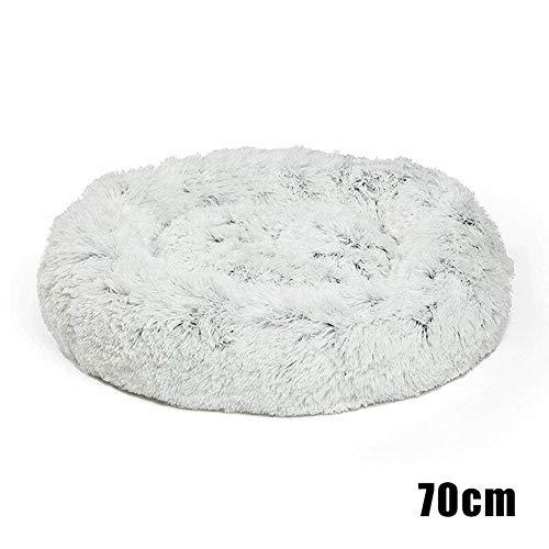 Gmxop Shag Faux Fur Donut Cuddler Cat Bed Warm Plush Dog Puppy Mat Pet Bed