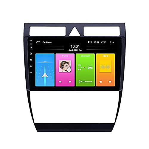 FDGBCF Android 10 Navegación GPS para automóvil Radio Multimedia Pantalla de 9 Pulgadas para Audi A6 C5 1997-2004, Soporte FM DSP RDS/Carplay Android Auto/BT/Pantalla Dividida/Control del Volante