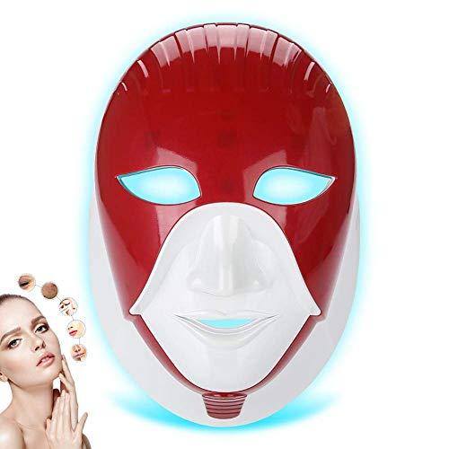 LED collo facciale maschera antirughe Skin Rejuvenation 7colori bellezza dispositivo bellezza maschera, approvato CE