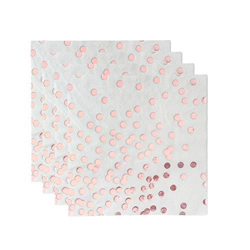 20 STÜCKE Bronzing Dot Rose Gold Serviette Geburtstagsfeier Hochzeitsdekoration Papier Handtuch Tissue Printing Papier Einweg Druckserviette