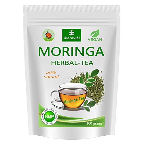 MoriVeda - Moringa Tea 100g Cutted Leaf Blend (Pure Natural). Guaranteed Quality and Best Taste(1x100g)