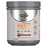 Garden of Life SPORT Organic Plant-Based Energy + Focus Vegan Pre Workout Powder, Sugar Free Blackberry Cherry - Clean Preworkout with 85mg Caffeine, Natural NO Booster, B12, Gluten Free, 40 Servings