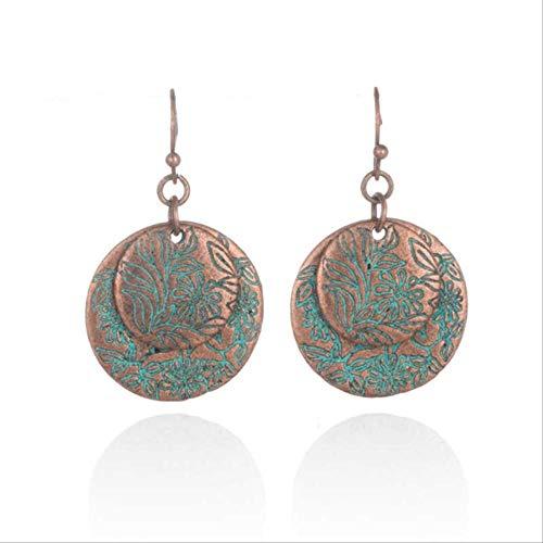 Épingles à oreille variété de boucles d'oreilles en cuivre rouge antique ethnique antique pour les femmes charme balancent boucle d' oreille cadeau de luxe E020767D