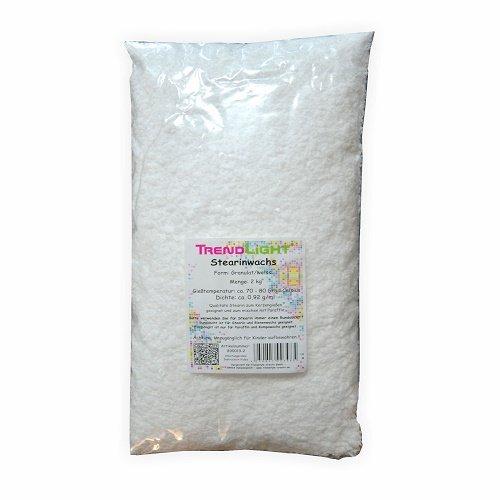 TrendLight 890019-2 - Stearina vegetale per la Realizzazione di Candele, 2 kg, Colore Bianco