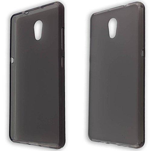caseroxx TPU-Hülle für Lenovo P2, Handy Hülle Tasche (TPU-Hülle in schwarz-transparent)