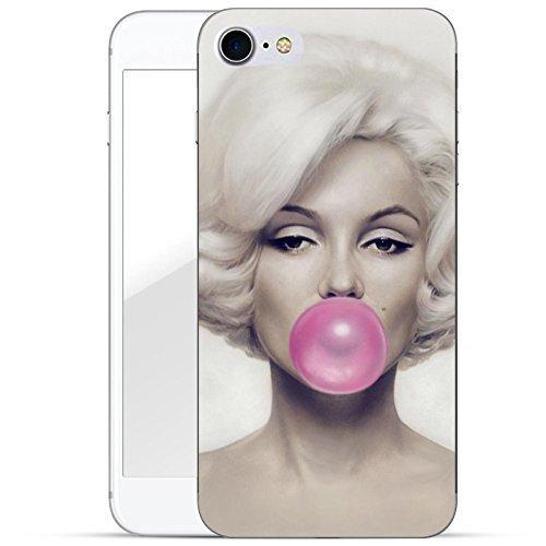 Finoo iPhone 8 telefoonhoes beschermhoes | ultra lichte transparante telefoonhoes in harde uitvoering | krasbestendig stijlvolle harde schaal met motief cover case | kauwgom roze