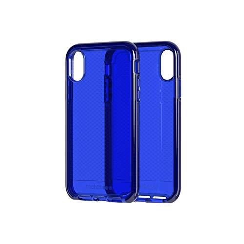 Tech21 Evo Check Funda Protectora para Apple iPhone XR - Azul Medianoche