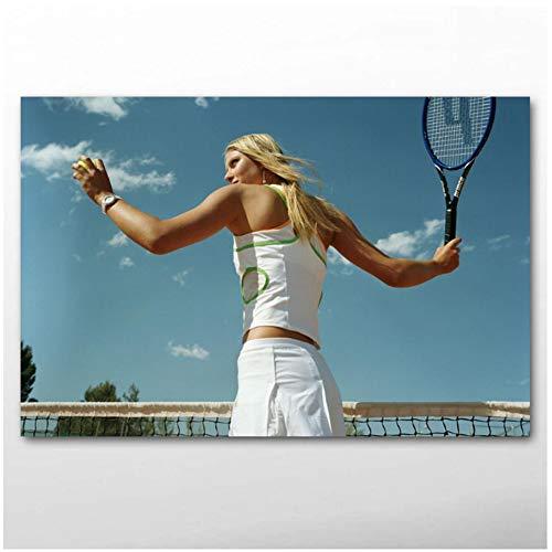 yhyxll Sport Maria Sharapova Tennis Promi Poster Leinwandbilder und Drucke Wandkunst für Wohnzimmer Dekor Druck auf Leinwand-60x90cm No Frame