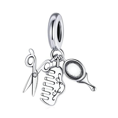 SANHUA S925 Plata De Ley Hermosa Niña Conjunto Colgante De Cuentas Adecuado para Pulsera Original Collar De Joyería De Bricolaje Regalo