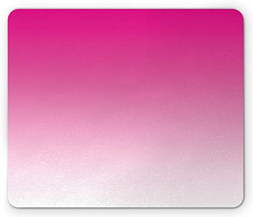 Ombre Mouse Pad, Hot Pink Candy and Cream Girly Elements Inspirado Ombre Diseño Digital Lámina Moderna, Rectángulo Alfombrilla de Goma Antideslizante Rosa - 8.6X 7 Inch