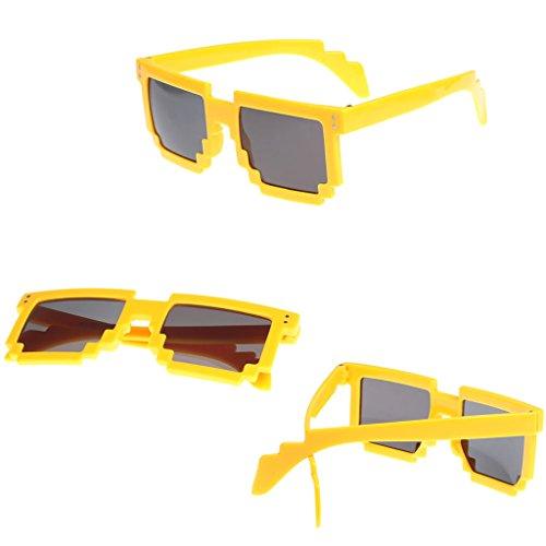 YOURPAI Presbyopic - Gafas de sol unisex estilo pixelado, estilo retro, estilo de 9 colores