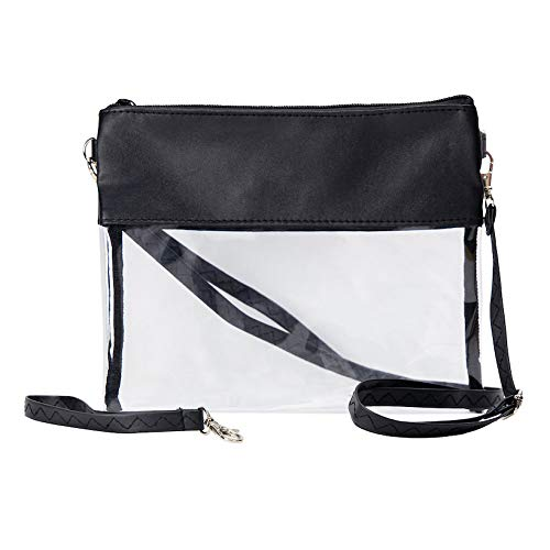 Clear Crossbody Purse Stadium Approved Bags for Women Shoulder Bag or Football Wristlet
